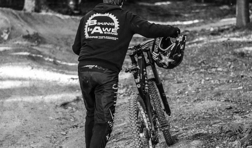 biking is awesome pullover