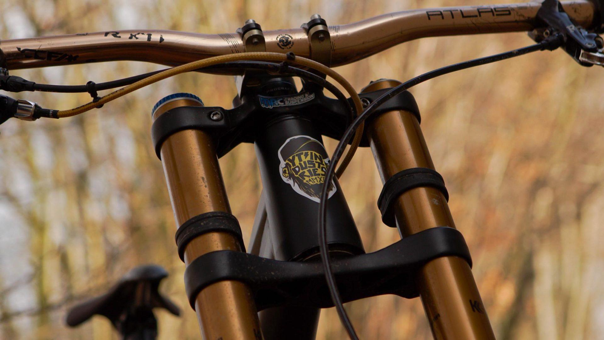Downhill Dream Bike 2019 - Custom Radon Swoop 210 matt black /Fox 40 / CaneCreek / Hope Evo / LG1r / Sram X01 /77 desings/ Reverse / Purple